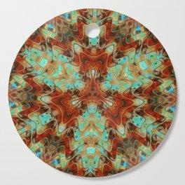 Scifi Rustic Geometric Cutting Board