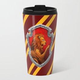 Gryffindor Hogwarts Stripes Travel Mug