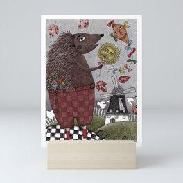 It's a Hedgehog! Mini Art Print