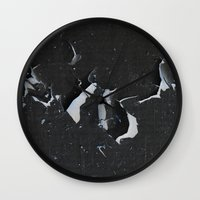 cracked Wall Clocks featuring cracked by Grigoriy Pil