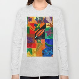Colourful Plant Collage Long Sleeve T-shirt