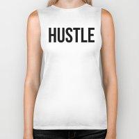 hustle Biker Tanks featuring HUSTLE by CreativeAngel