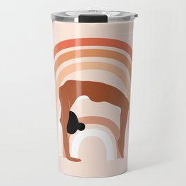 Rainbow yoga Travel Mug