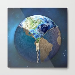 New World Metal Print