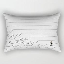 Surf Lines - Soft White Rectangular Pillow