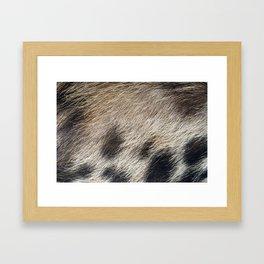 Pig Skin Hair Framed Art Print