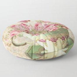 Tea Flowers #4 Floor Pillow