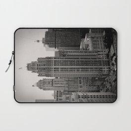 Chicago Tribune Tower Building Black and White Photo Laptop Sleeve