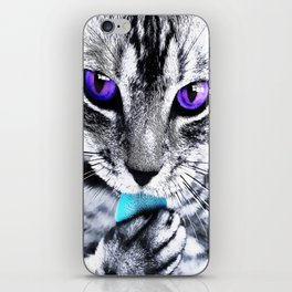 Purple eyes Cat iPhone Skin