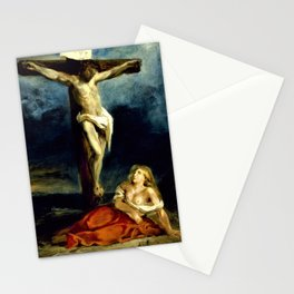 Eugene Delacroix - Saint Mary Magdalene At The Foot Of The Cross - Digital Remastered Edition Stationery Cards
