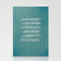 van gogh Stationery Cards featuring VAN GOGH by Lex Bleile