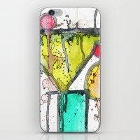 martini iPhone & iPod Skins featuring Dirty Martini by Ingrid Padilla