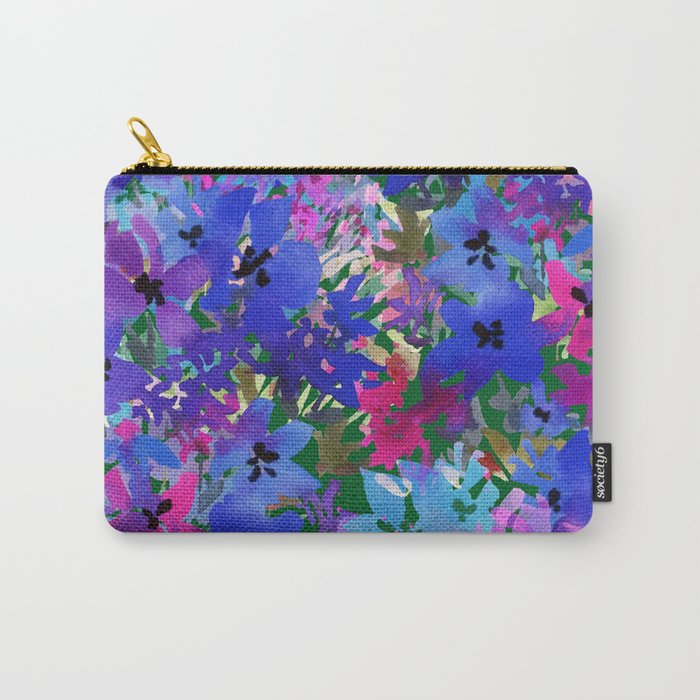 Cool Blue Summer Garden Carry-All Pouch