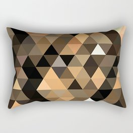 Pale Orange Gold Brown Masculine Colors Triangles Polygon Pattern Rectangular Pillow