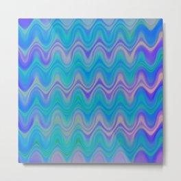 Agate Wave Lilac - Mineral Series 003 Metal Print