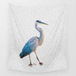 Blue Heron Silhouette Wall Tapestry