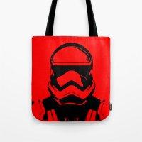 trooper Tote Bags featuring Trooper  by Rabassa