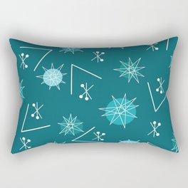 Mid Century Modern Sputnik Starburst Planets 3 Rectangular Pillow