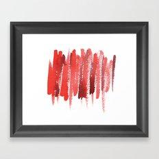 Red Strokes Framed Art Print