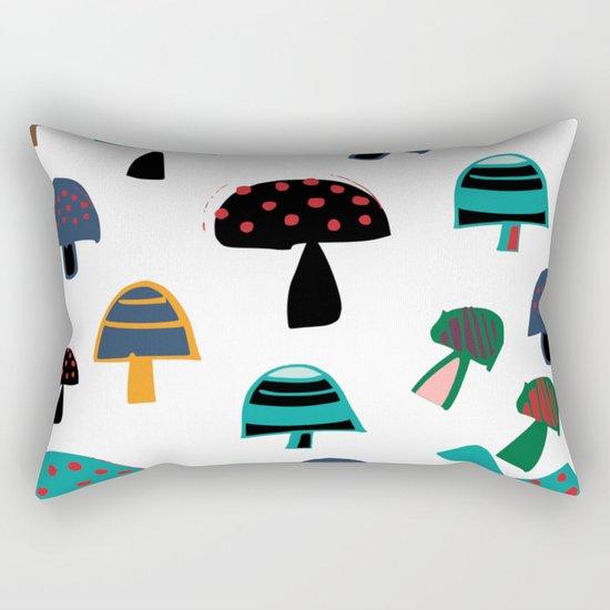 Cute Mushroom white Rectangular Pillow