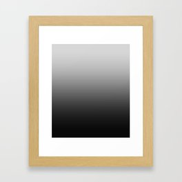 Gray to Black Horizontal Linear Gradient Framed Art Print