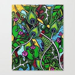 Peacock Paradise Canvas Print