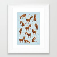 moose Framed Art Prints featuring Moose by Greg Abbott