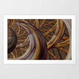 Harvest horn Art Print