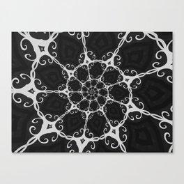 Dark Mandala #3 Canvas Print