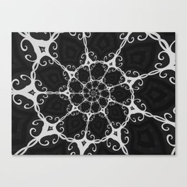 Dark Mandala #3 Canvas Print