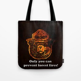 Smokey the Bear Tote Bag