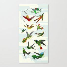 Hummingbirds, after Haeckel Canvas Print