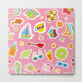 Summer Fun Pink Metal Print