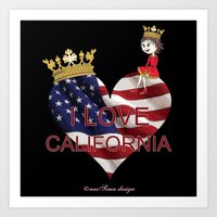 Lisy Loves California Art Print