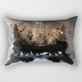 Piandemonium - Piano Rorschach Rectangular Pillow