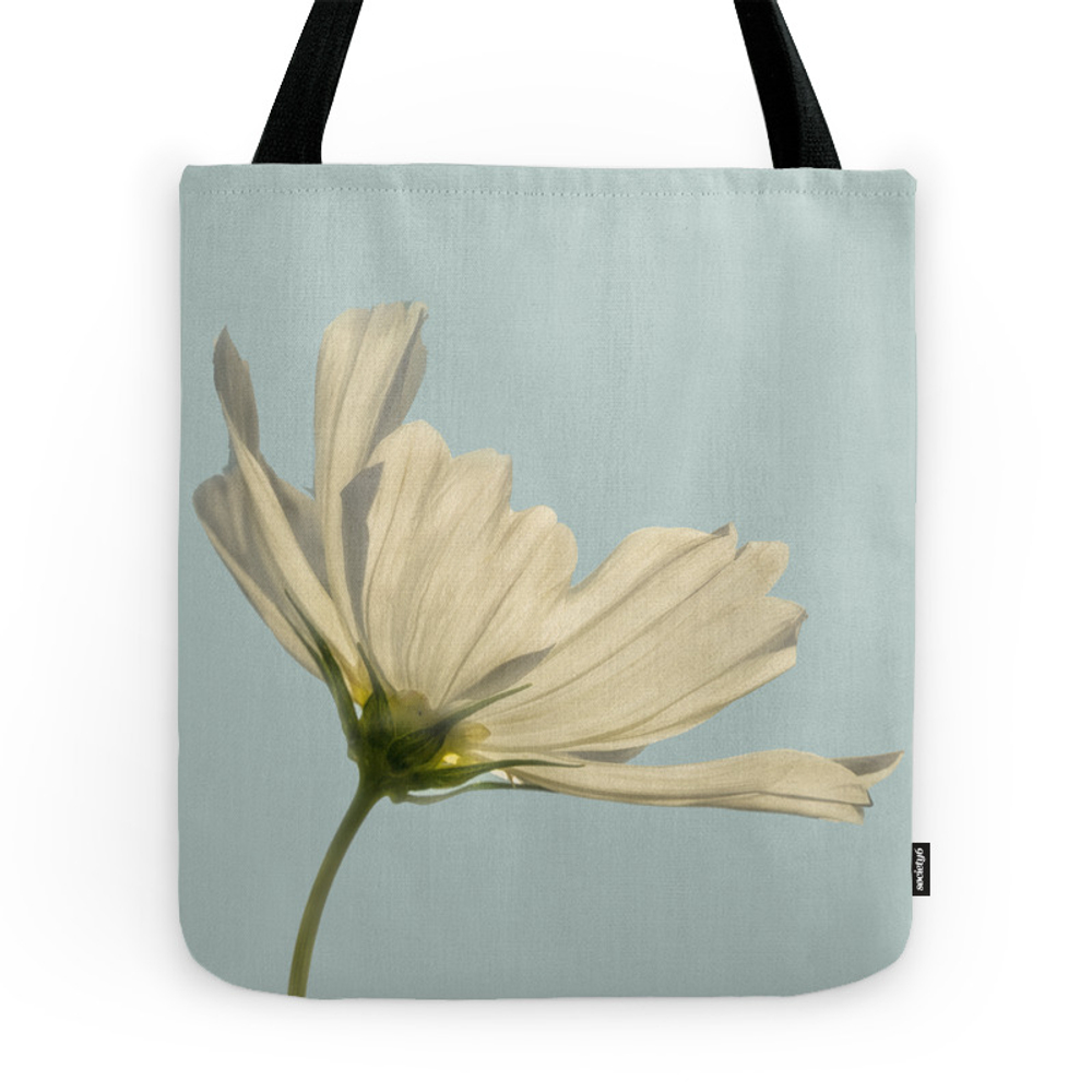 White Cosmea Tote Purse by gelibolu (TBG7821988) photo