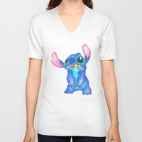 lilo and stitch V-neck T-shirts featuring Stitch by Kailan Harris (TheLonelyZero)