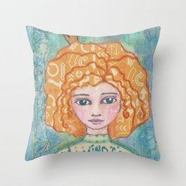 My Mind Goes All Over the Place Throw Pillow
