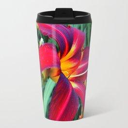 Red Lily Flower Travel Mug