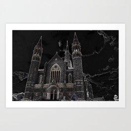 Sacred Heart Cathedral Bendigo Art Print