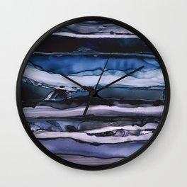Blue Storm Abstract Art Wall Clock