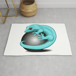 Gecko art; Cute lizard; Reptile painting  Rug