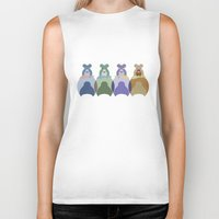 bears Biker Tanks featuring Bears by TypicalArtGuy