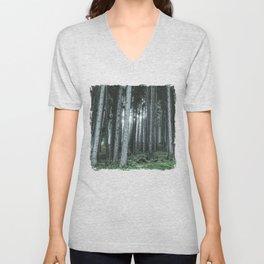 Woodland, Forest, Trees Unisex V-Neck