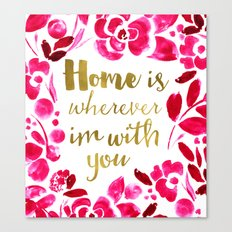 Home - pink Canvas Print