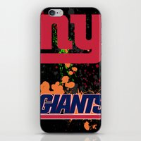 giants iPhone & iPod Skins featuring ny giants by Dan Solo Galleries