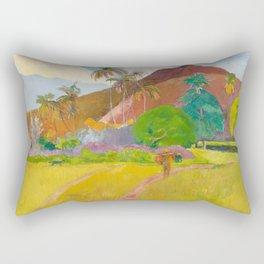 Tahitian Landscape by Paul Gauguin Rectangular Pillow