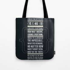 Sherlock - The Great Consulting Detective. Tote Bag