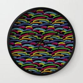 eyelashes colors pattern Wall Clock