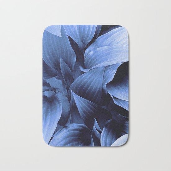 Blue Foliage Bath Mat